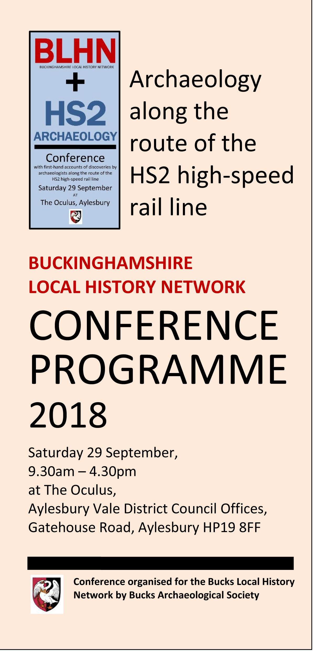 The BLHN 2018 conference programme