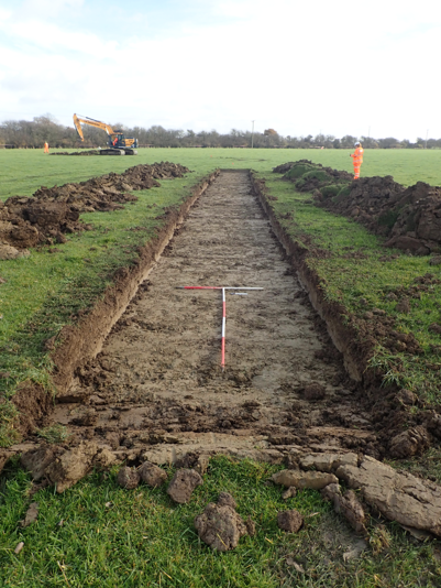 Trial trenching at Doddershall
