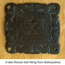 A late Roman belt fitting from Bishopstone